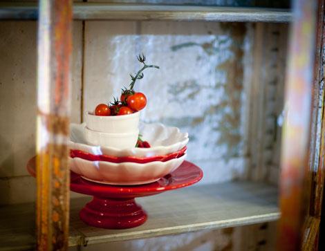 赤い食器(クリスマス)