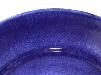 ブルーのお皿