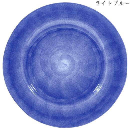 ラウンドプレート(大皿) 31cmライトブルー