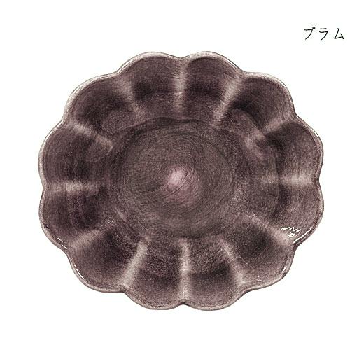 オイスターボウル(楕円深皿)プラム