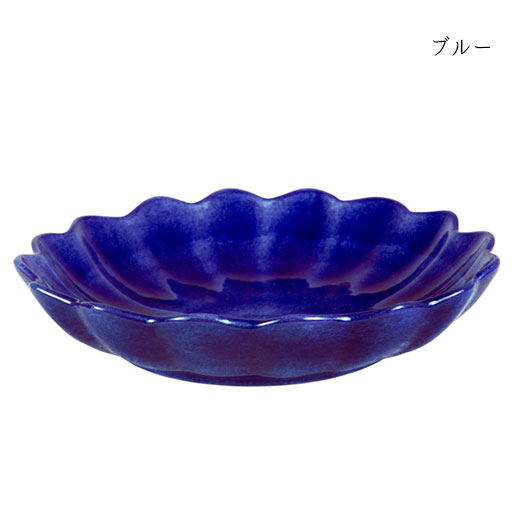 オイスターボウル(丸深皿) 24cmブルー