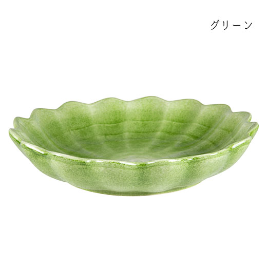 オイスターボウル(丸深皿) 24cmグリーン