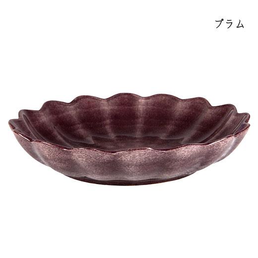 オイスターボウル(丸深皿) 24cmプラム