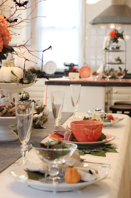 ハロウィーンのテーブルコーディネート