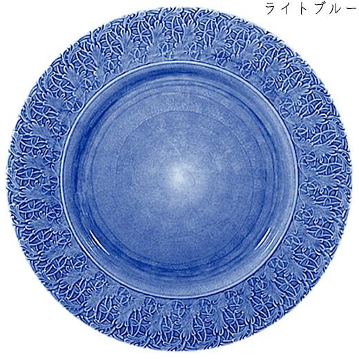 レースプレート(大皿) 32cmライトブルー