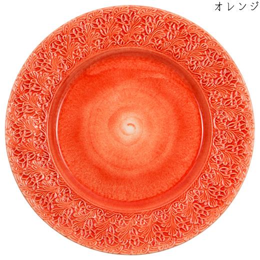 レースプレート(大皿) 32cmオレンジ