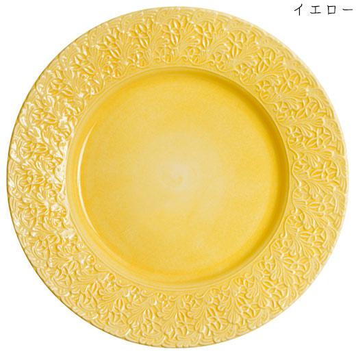 レースプレート(大皿) 32cmイエロー