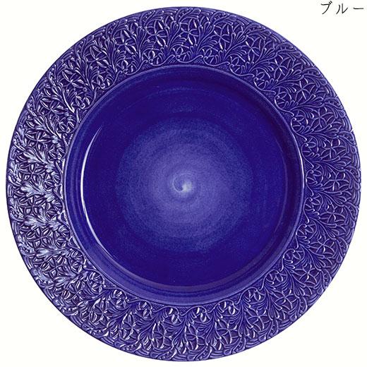 レースプレート(大皿) 32cmブルー