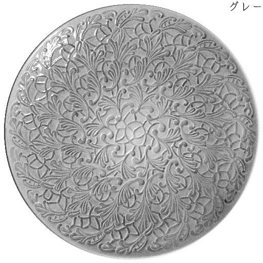 フルレースプレート(大皿) 34cmグレー