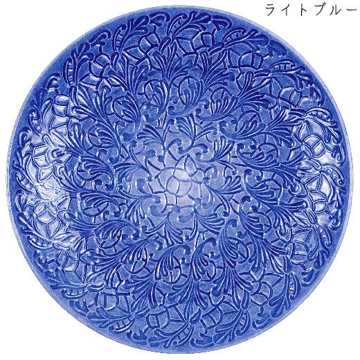 フルレースプレート(大皿) 34cmライトブルー
