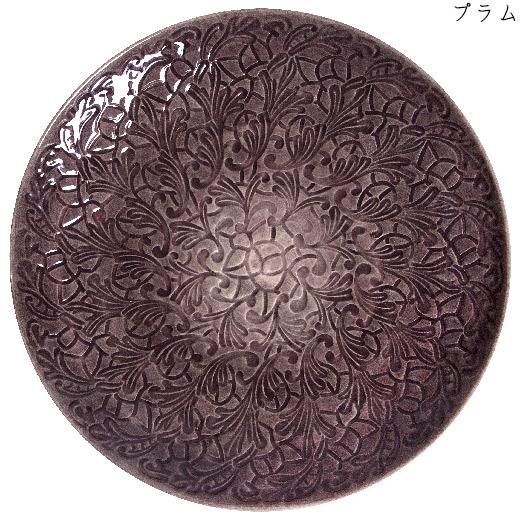 フルレースプレート(大皿) 34cmプラム