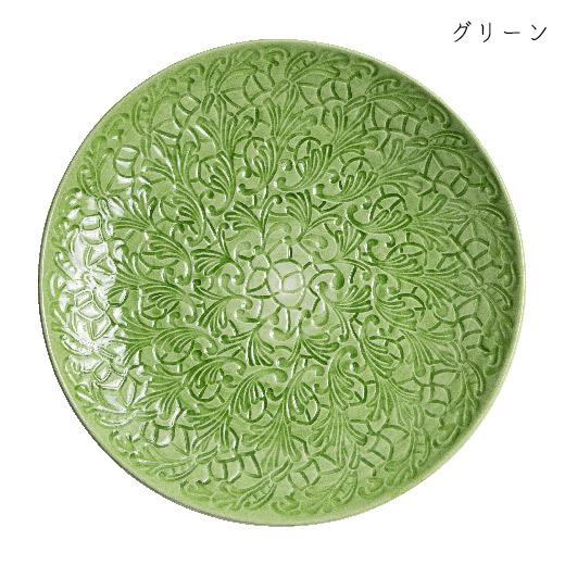 フルレースプレート 20cmグリーン