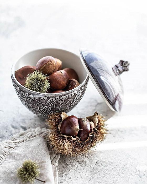 秋の味覚「栗」に秋色の食器