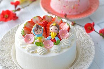 素敵なひな祭りのケーキのお写真