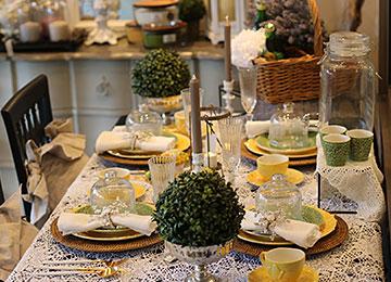 春のテーブルコーディネート