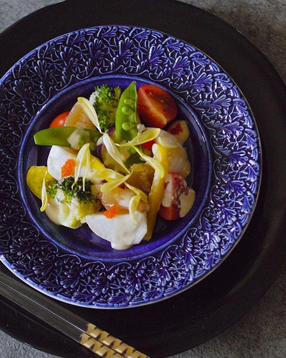 和食器として、和風に使える青いお皿