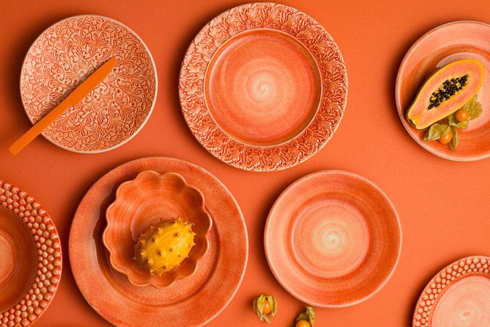 オレンジ食器
