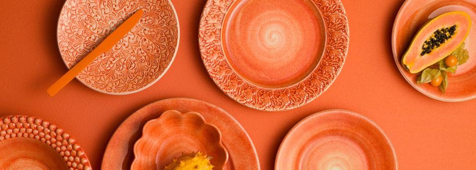 オレンジの食器