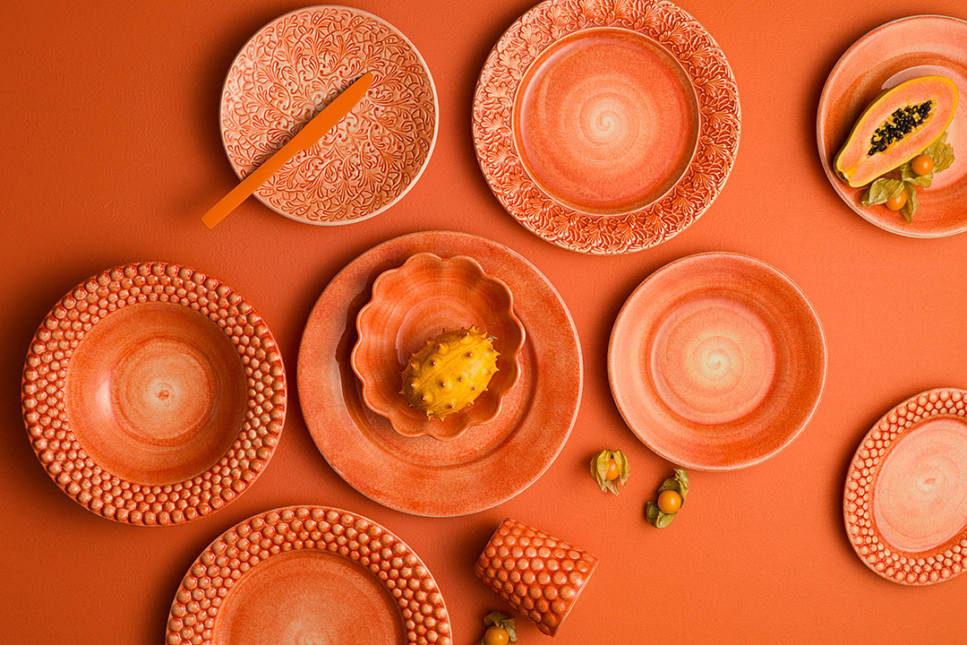 フルレースプレート 20cmなど、トレンドカラーオレンジのおしゃれな食器