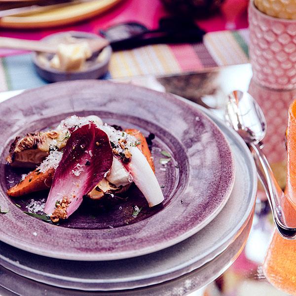 パープルのディナー皿