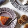 タルトタタンと北欧の陶器製ケーキ皿