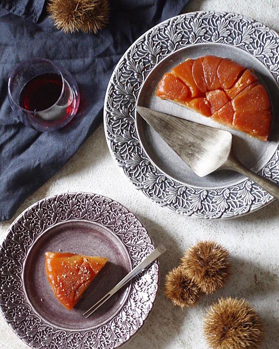 北欧の陶器製ケーキ皿