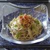 料理が映えるブルーの北欧食器のお皿