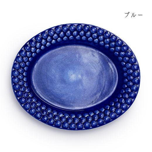 バブルス オーバルプレート 20×17cmブルー