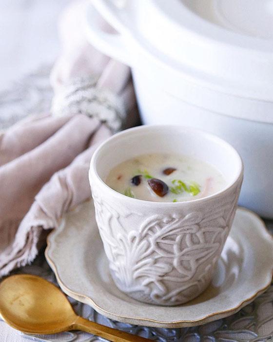 エスプレッソカップをスープカップに使用。