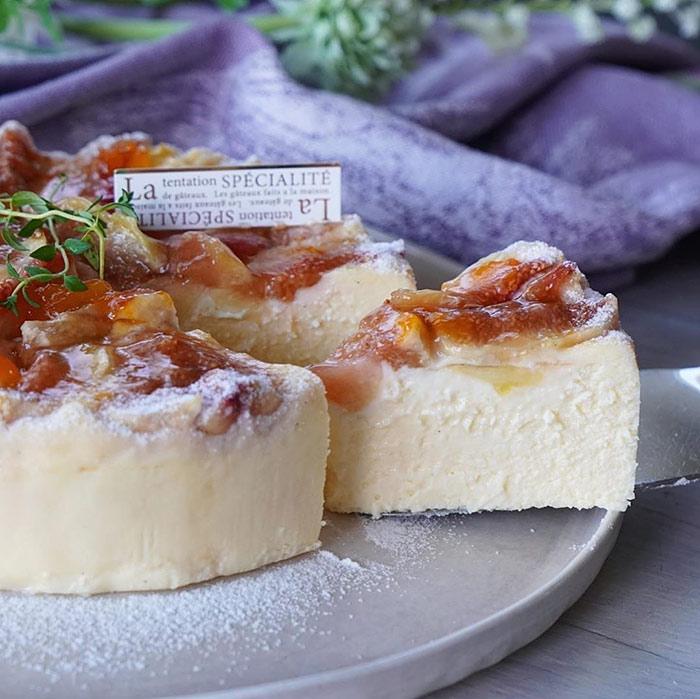 無花果のとろけるチーズケーキ