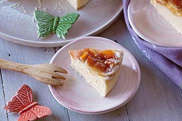 チーズケーキ皿として使ってくださった小皿とバタフライのお箸置き