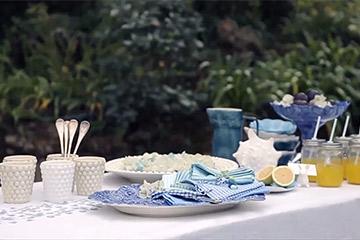 マテュースの食器で夏のテーブルコーディネート動画
