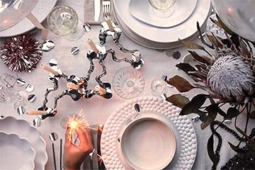 白い食器で!クリスマスパーティーの動画