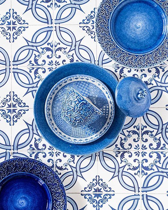 インスタ映えするブルーの食器
