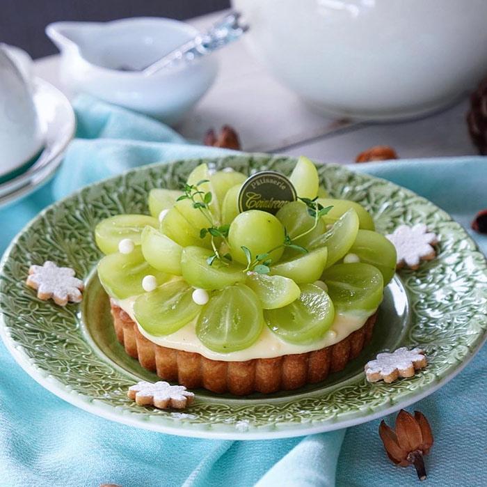 レース皿をケーキ皿として使用した写真