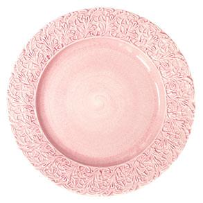 レース皿25cm ライトピンク
