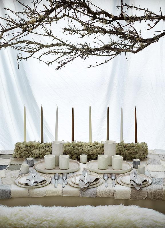 シンプルで優しい、冬のテーブルコーディネート