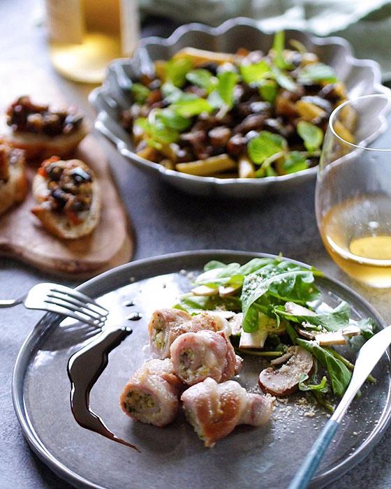 イタリア料理とマテュースの食器