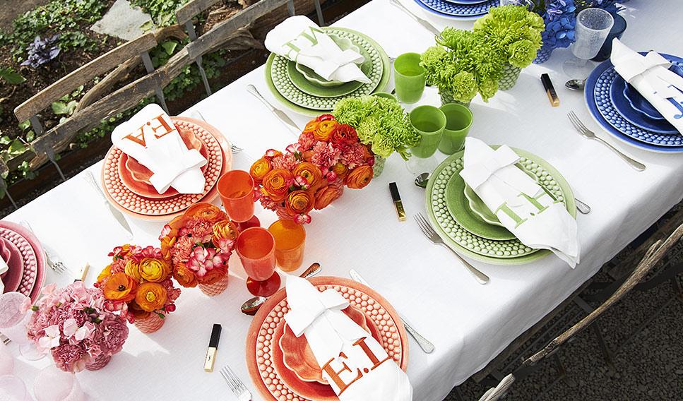 MATEUS陶器カラフルテーブルコーティーネート