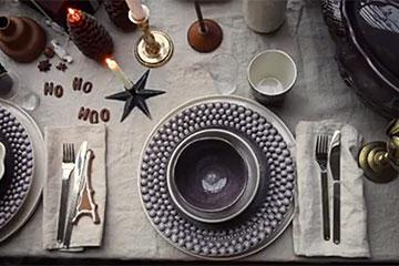 マテュースの食器でクリスマスのテーブルセッティング動画