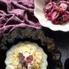 北欧食器ブランドの黒と白のオイスターボウルでモダンなお料理とテーブルセッティング