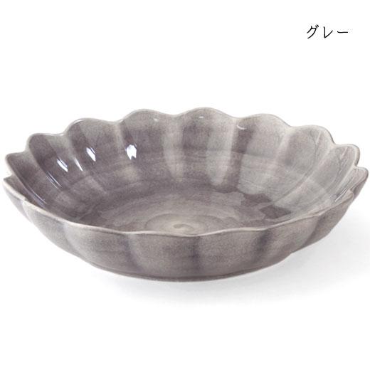 オイスターボウル(丸深皿) 31cmグレー