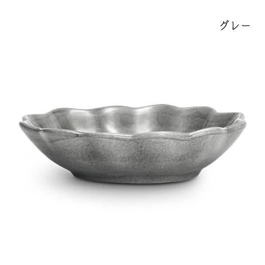 オイスターボウル(楕円深皿)グレー