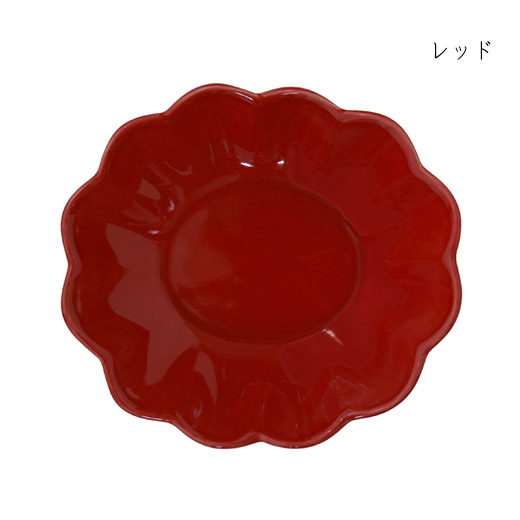 オイスターボウル(楕円深皿)レッド