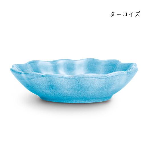 オイスターボウル(楕円深皿)ターコイズ