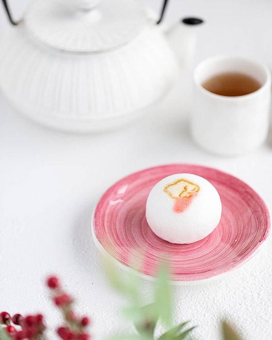 和菓子と銘々皿