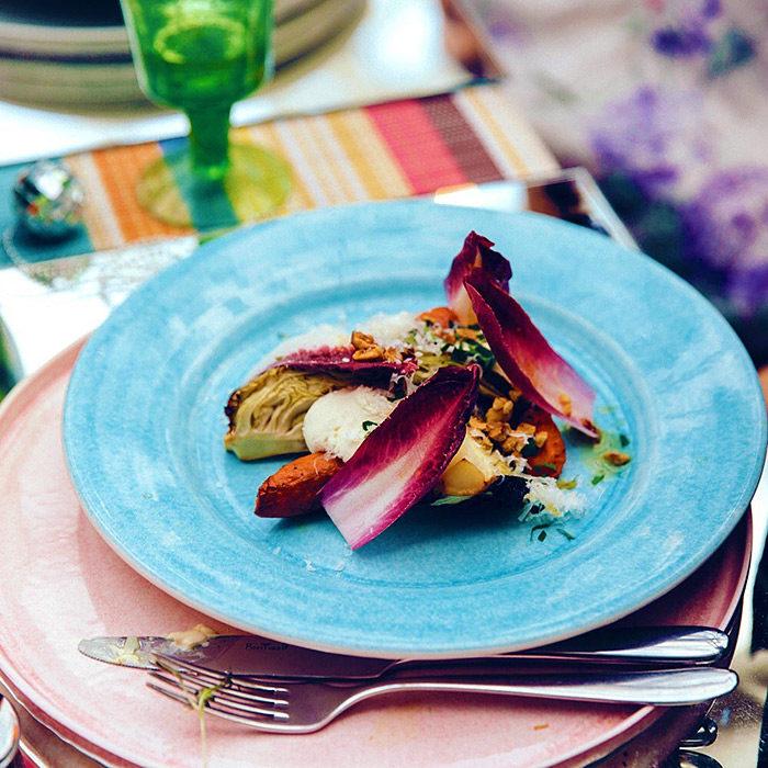 北欧食器MATEUSのターコイズ色の食器