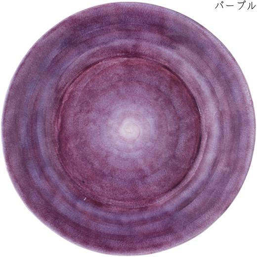 ラウンドプレート(大皿) 41cmパープル