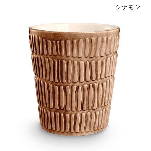 ストライプス ミディアムカップH10cmシナモン