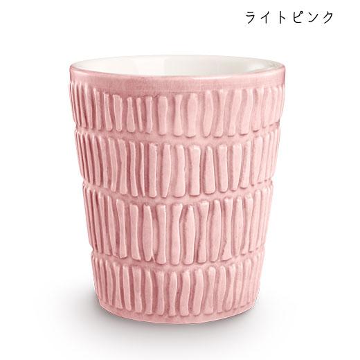 ストライプス ミディアムカップH10cmライトピンク